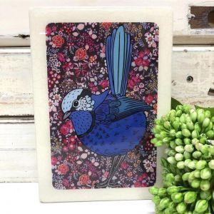 Medi Woodblock | Splendid Fairy Wren