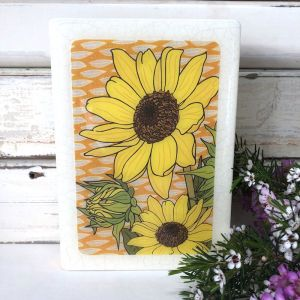 Medi Woodblock | Sunflower