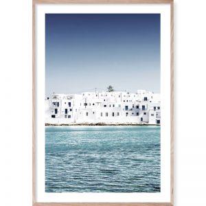 Mediterranean Blue 2 | Framed Giclee Art Print | By Wall Style