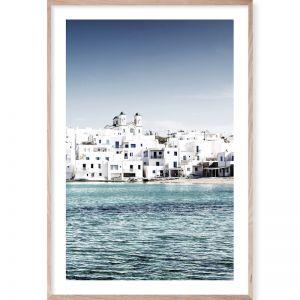 Mediterranean Blue 3 | Framed Giclee Art Print | By Wall Style