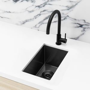 Meir Bar Sink - Single Bowl 382 x 272 | Brushed Gun Metal