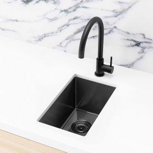 Meir Bar Sink - Single Bowl 382 x 272 | Brushed Gun Metal | MKSP-S322222-GM