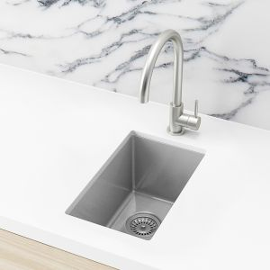 Meir Bar Sink - Single Bowl 382 x 272 - PVD Brushed Nickel