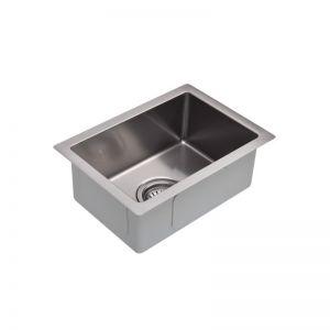 Meir Brushed Nickel Kitchen Mini Sink - Single Bowl 382 x 272