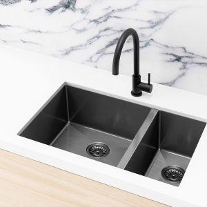 Meir Kitchen Sink - One and Half Bowl 670 x 440 | Gunmetal Black | MKSP-D670440-GM