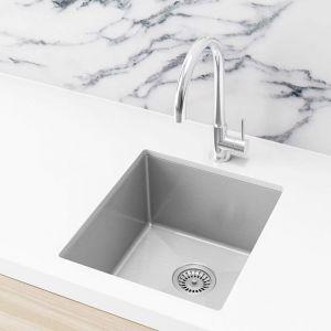 Meir Kitchen Sink - Single Bowl 380 x 440 - Brushed Nickel