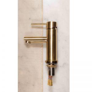 Meir Round Basin Mixer - Tiger Bronze Gold