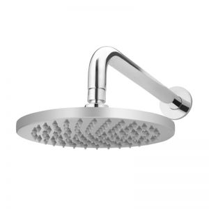 Meir Round Chrome Curved Shower