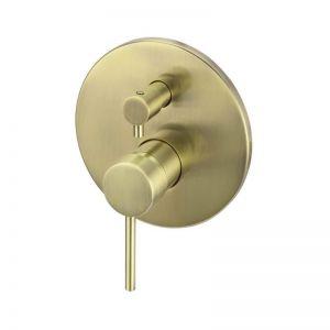 Meir Round Diverter Mixer - Tiger Bronze Gold