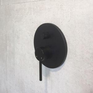 Meir Round Matte Black Diverter Mixer Tap