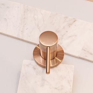 Meir Round Wall Mixer | Champagne
