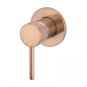 Meir Round Wall Mixer | Champagne | MW03-CH