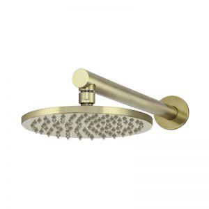 Meir Round Wall Shower | 200mm rose | 400mm arm | Tiger Bronze