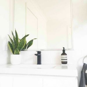 Meir Square Matte Black Bathroom Mixer Tap