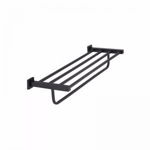 Meir Square Matte Black Multi Towel Rack - Matte Black