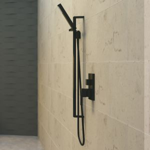 Meir Square Matte Black Shower Column