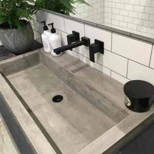 Meir Square Matte Black Wall Tap Assembly