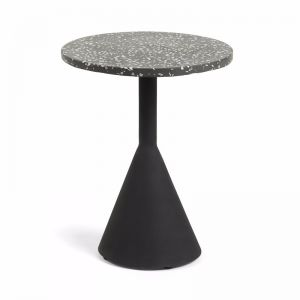 Melano Terrazzo Side Table | Black