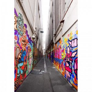 Melbourne CBD Graffiti Alley Portrait | Stretched Canvas/Panel
