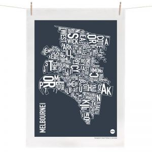 Melbourne Map | Tea Towel by Burbia