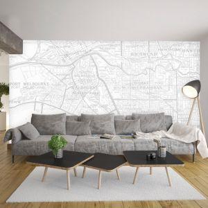 Melbourne Map Wallpaper 300cm x 250cm