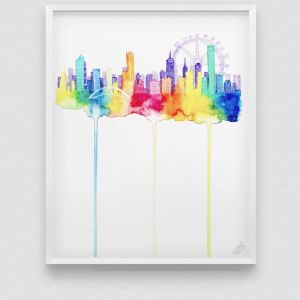Melbourne Painting | 350gsm Print