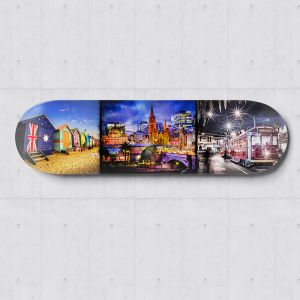 Melbourne Photography | Skateboard Deck Wall Art | Blue Herring