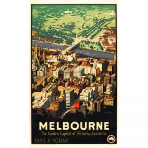 Melbourne Vintage Poster by James Northfield