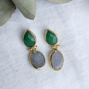 Melina Double Drop Hook Earrings