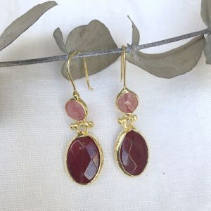 Melina Double Drop Hook Earrings l Pre Order