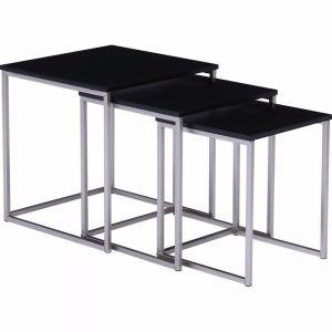 Melor Nest Of 3 Tables | Black