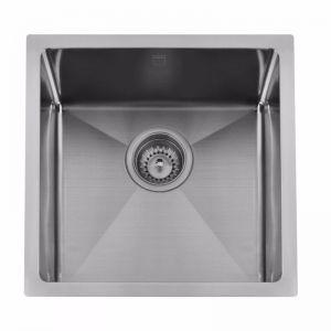 Memo Zenna Single Bowl Sink Stainless Steel Gunmetal | Reece