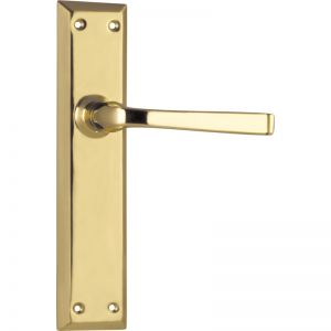 Menton Lever Latch Set | Polished Brass | Schots