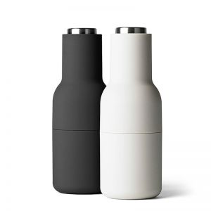 Menu Bottle Grinder | Set of Two | Carbon and Ash with Steel Lid