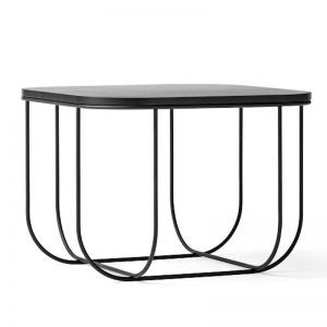 Menu Cage Table with Wooden Lid