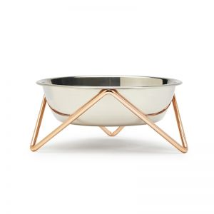 Meow | Cat Stand & Bowl | Copper