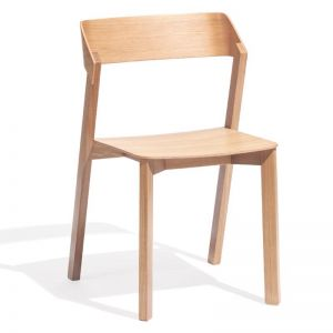 Merano Natural Oak Stackable Dining Chair