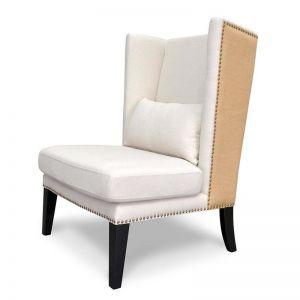 Mercer Lounge Fabric Wingback Chair | Classic Cream