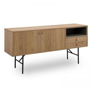 Meriton Sideboard |160cm | Ash Veneer + Green | Modern Furniture