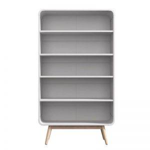 Merlin White Modern Retro Display Cabinet