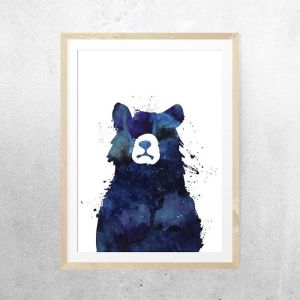 Messy Bear Don't Care | Unframed Print