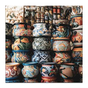 Mexican Pots | Canvas or Print by Artist Lane