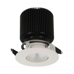 MFL By Masson Accent Gimble LED Dimmable White Downlight in Warm White | By Beacon Lighting