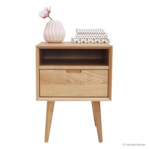 Mia Contemporary Nightstand with Shelf