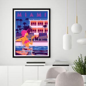 Miami Nights | Framed Wall Art