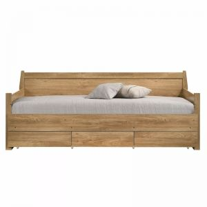 Mica Natural Wooden Day Bed with 3 Drawers Sofa Bed Frame