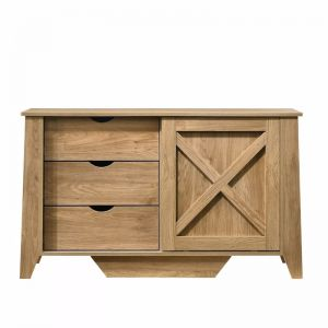 Mica Wooden Sliding Door Sideboard with 3 Drawers