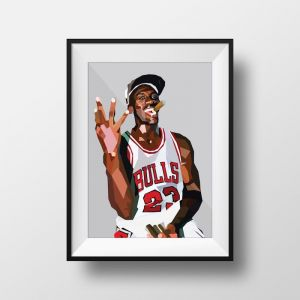 Michael Jordan | Art Print | Framed and Unframed