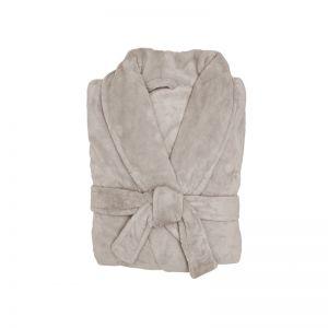 Microplush Bathrobe | Stone | Pre Order for late April