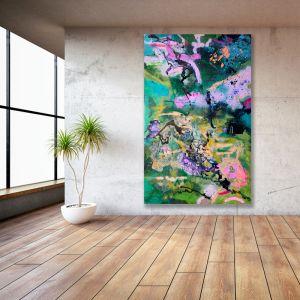 Midnight Mojito I 2019 I Original Acrylic Ink and Spray Paint